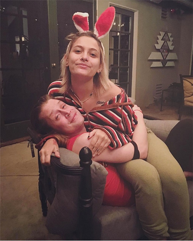Paris Jackson, Macaulay Culkin, 2017, Instagram
