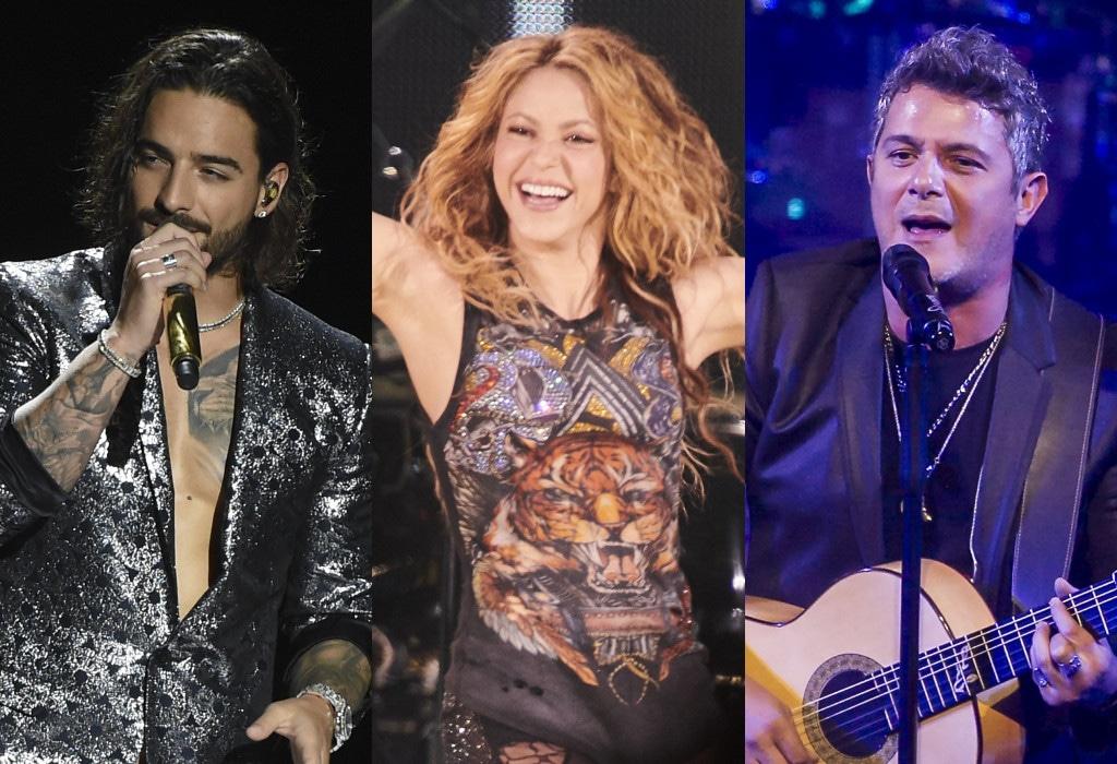 Maluma, Shakira, Alejandro Sanz