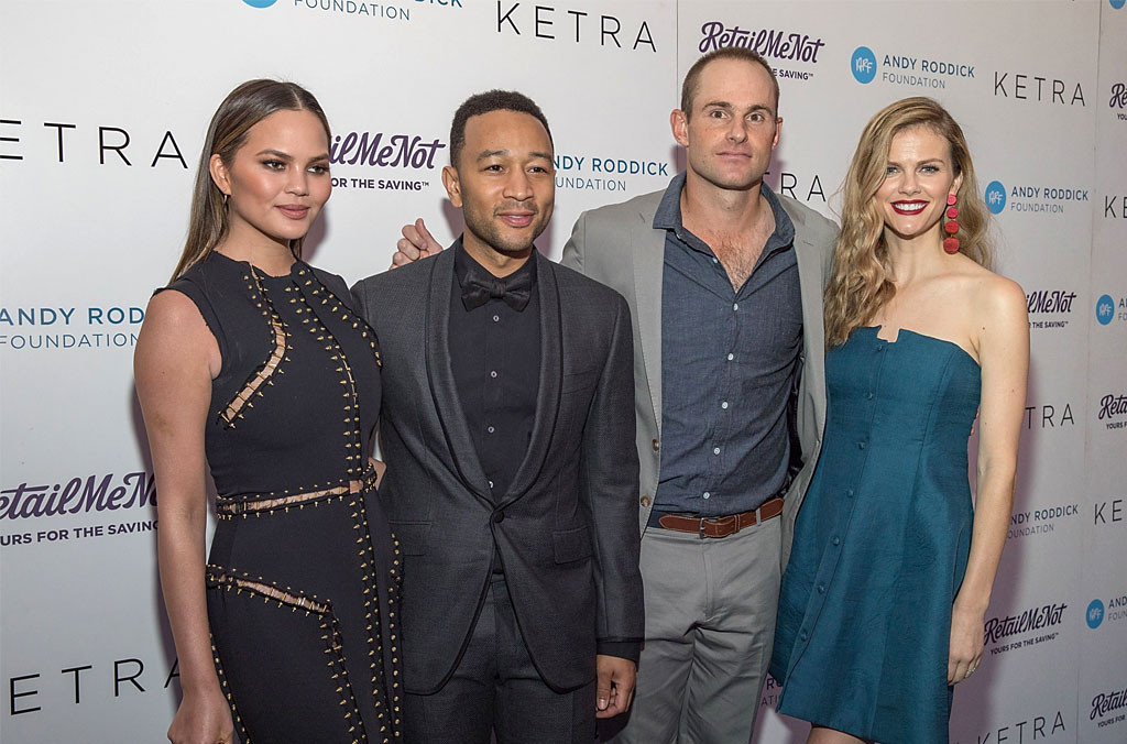 Chrissy Teigen, John Legend, Andy Roddick, Brookyln Decker