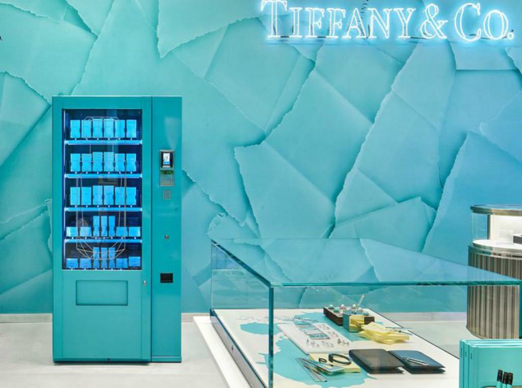 Tiffany & Co, máquina de venda automática