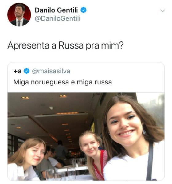 Maisa Silva, Danilo Gentili, Twitter