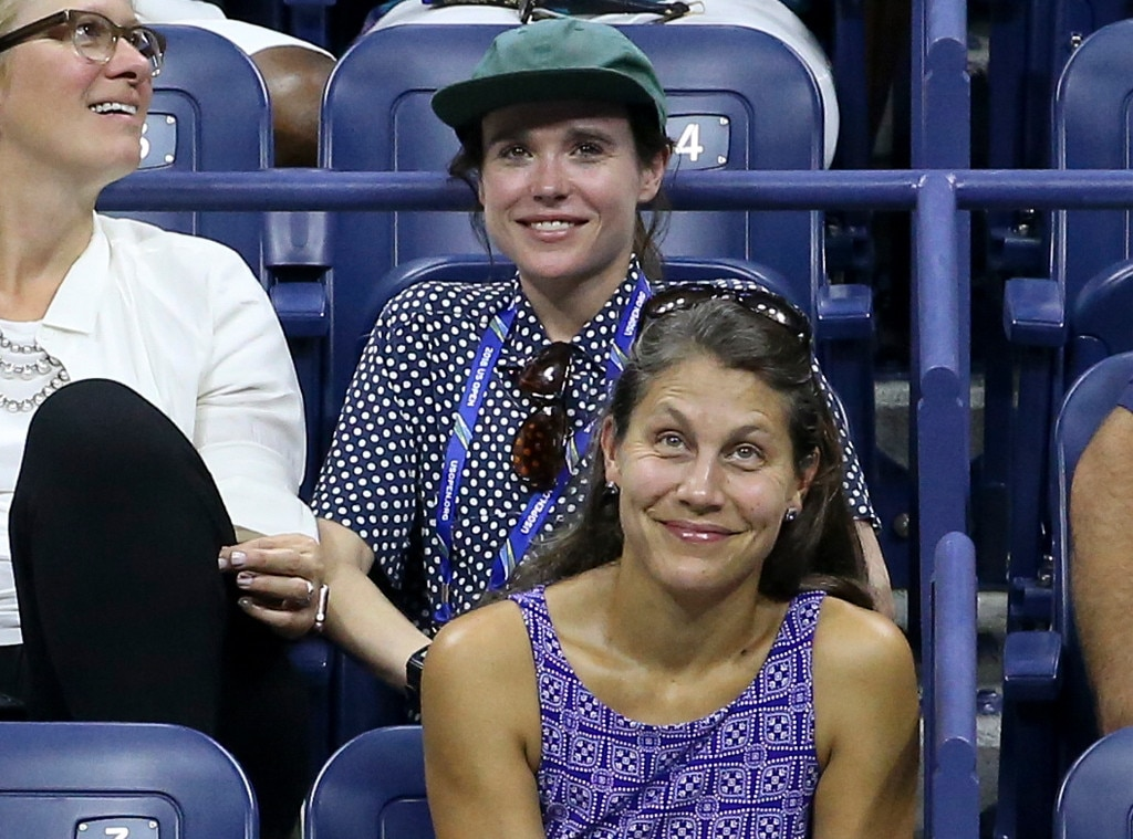 Ellen Page -  The Oscar nominee watched Serena Williams take on Carina Witthoeft on Wednesday at the U.S. Open.