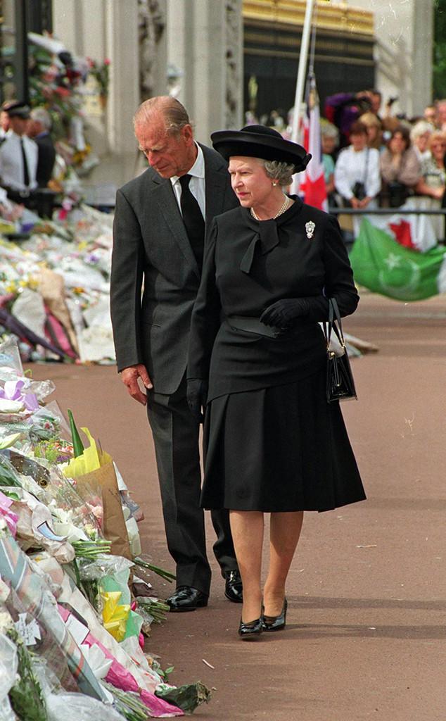 Queen Elizabeth II, Prince Philip, Diana funeral
