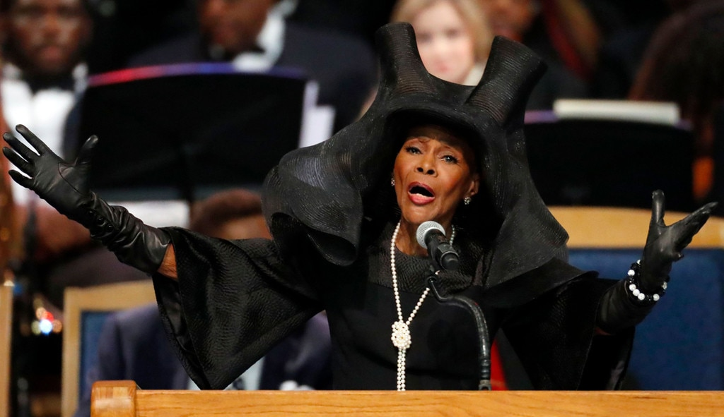 Cicely Tyson, Aretha Franklin Funeral