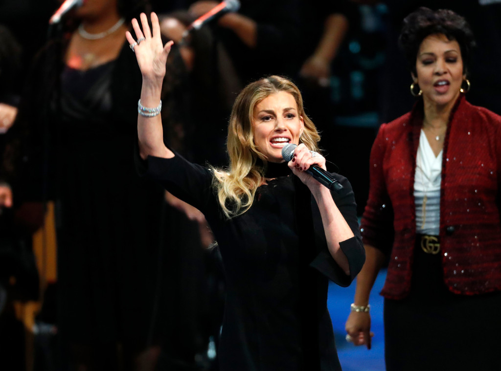 Faith Hill, Aretha Franklin Funeral