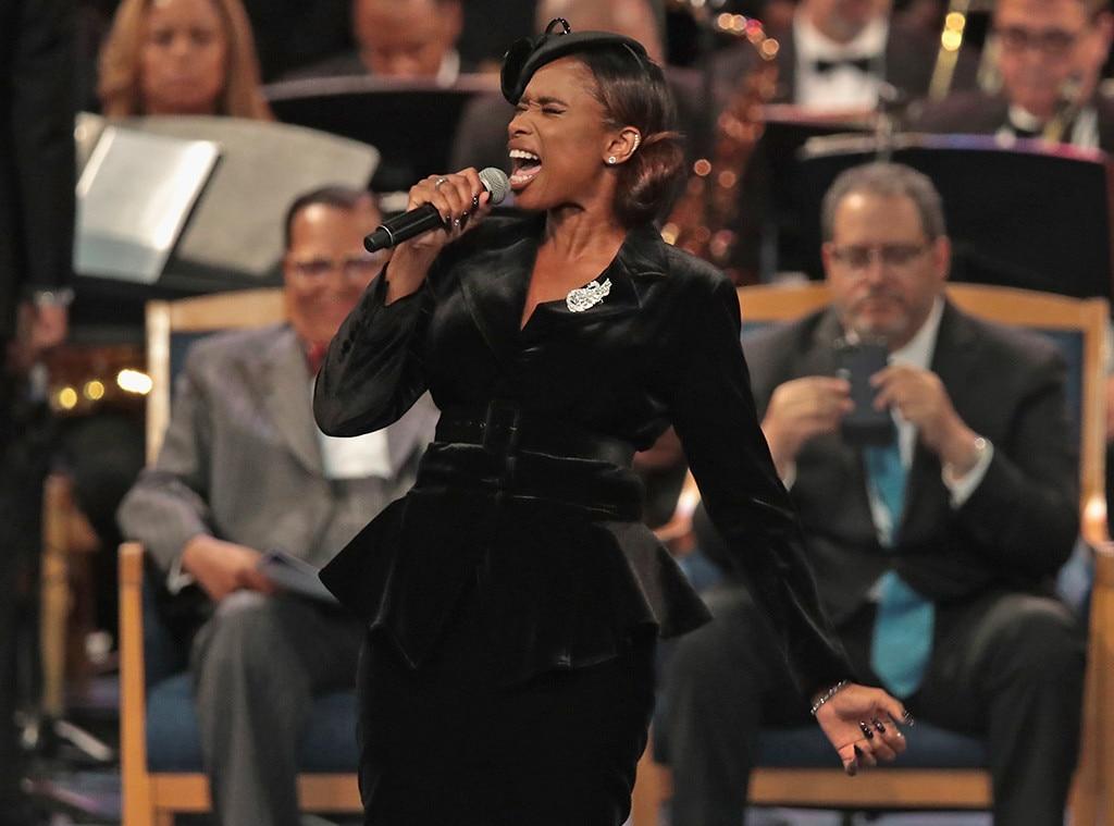 Jennifer Hudson, Aretha Franklin, Funeral