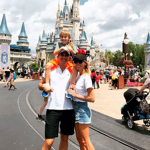 """Happy Family, Happy Place -  """"Happy Family, Happy Place. Spending the weekend making memories at @waltdisneyworld (p.s. check out my insta story for all the #disneyworld fun!)"""""""