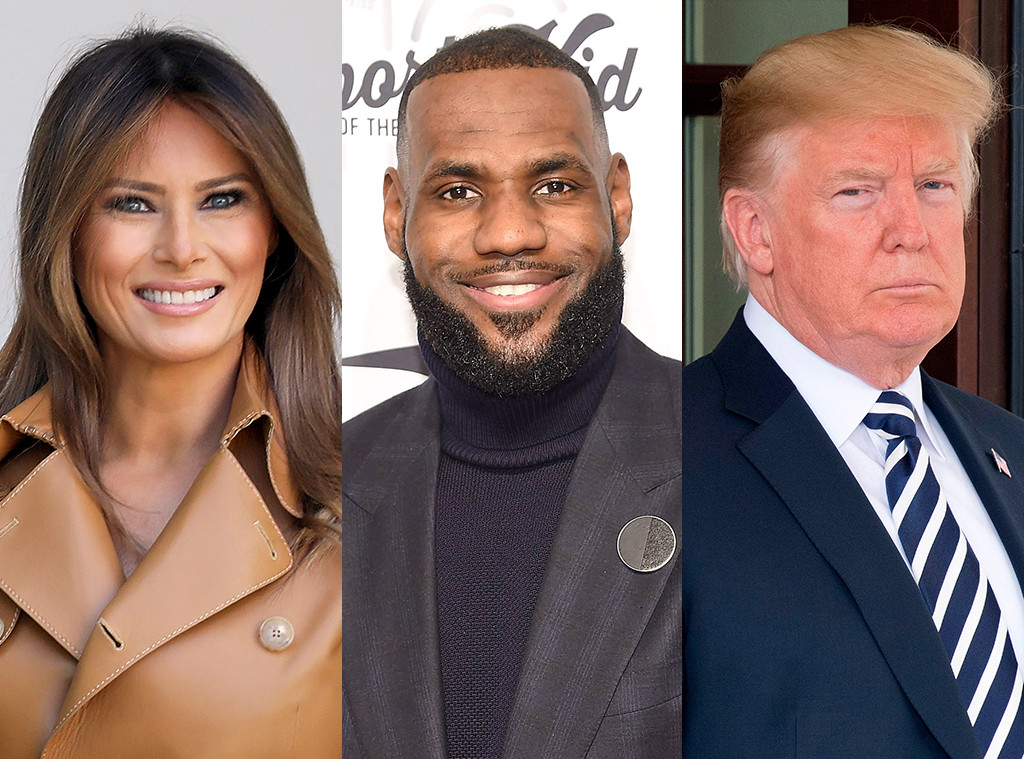 Melania Trump, Lebron James, Donald Trump