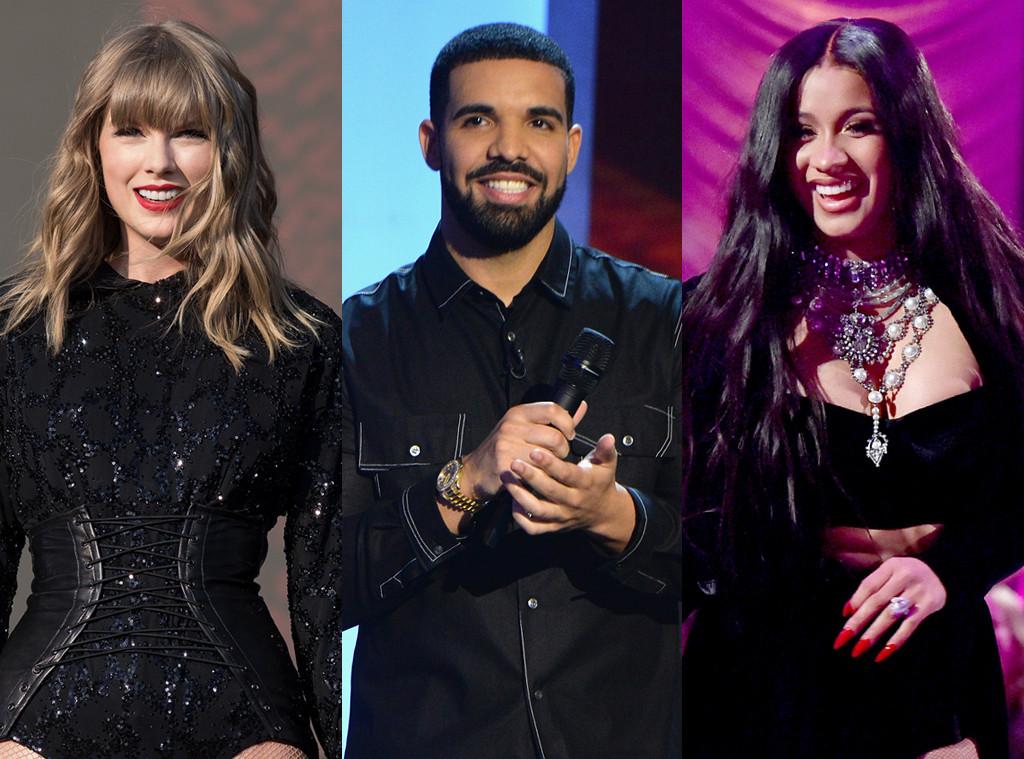 Best of Summer Music, Taylor Swift, Drake, Cardi B