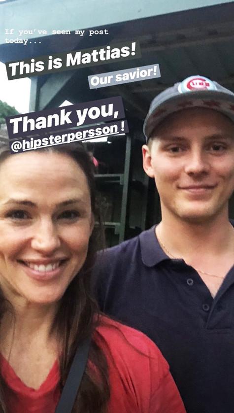 Jennifer Garner, Instagram Story