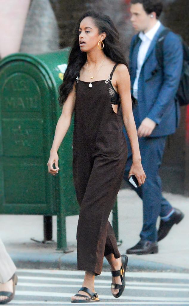 Photo Of Malia Obama >> Malia Obama Masters Chic Comfort With Jumpsuit And 24 Earrings E