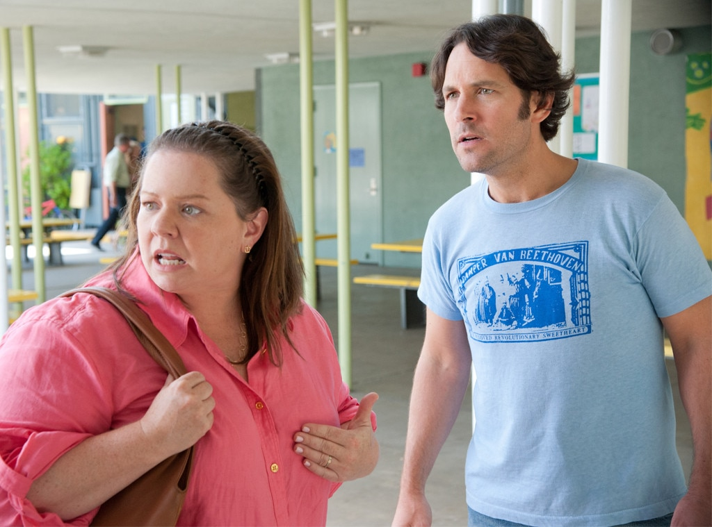 This Is 40  -  After Debbie ( Leslie Mann ) yells at a student ( Ryan Lee ), who has been taunting her daughter Sadie ( Maude Apatow ), Catherine (McCarthy) the mother of the kid gets involved and things get heated. She might've been a minor character but the parents' meeting in the principal's office is one of  This Is 40' s funniest scenes, hands down.