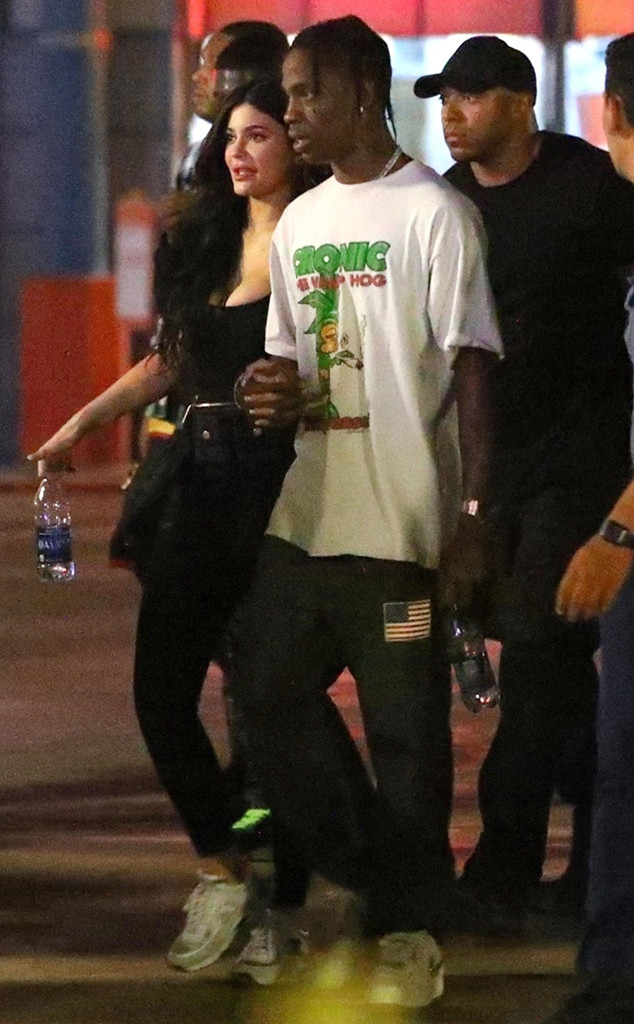 8d61681aa022 Travis Scott Shuts Down Six Flags for Album Listening Party With Kylie  Jenner, Fans and Friends