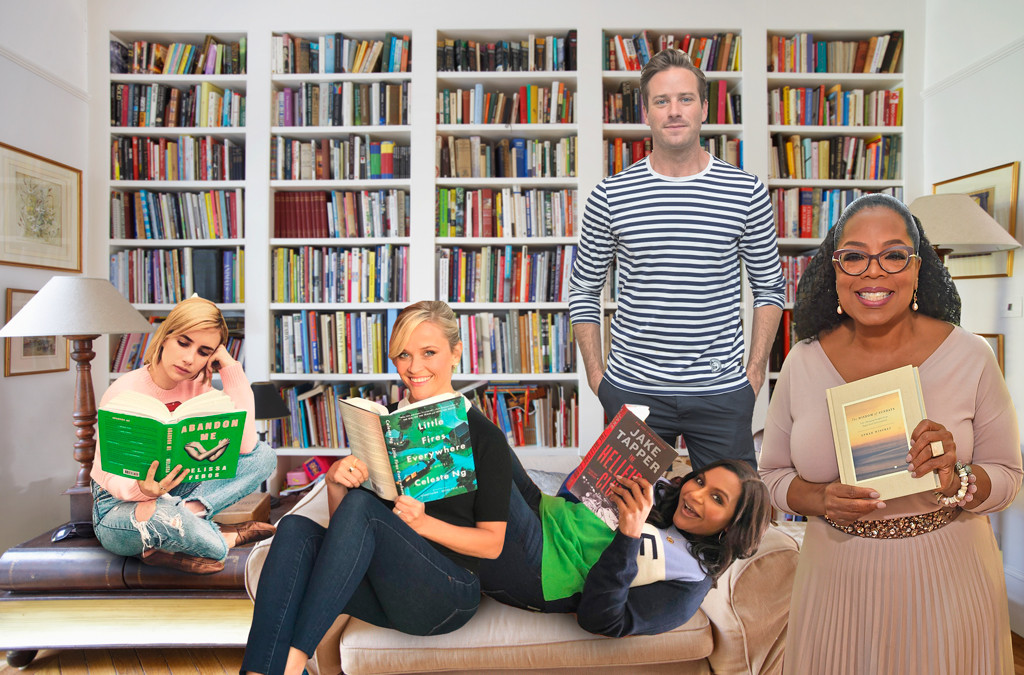Book Lovers Day, Reese Witherspoon, Oprah, Mindy Kaling, Armie Hammer, Emma Roberts