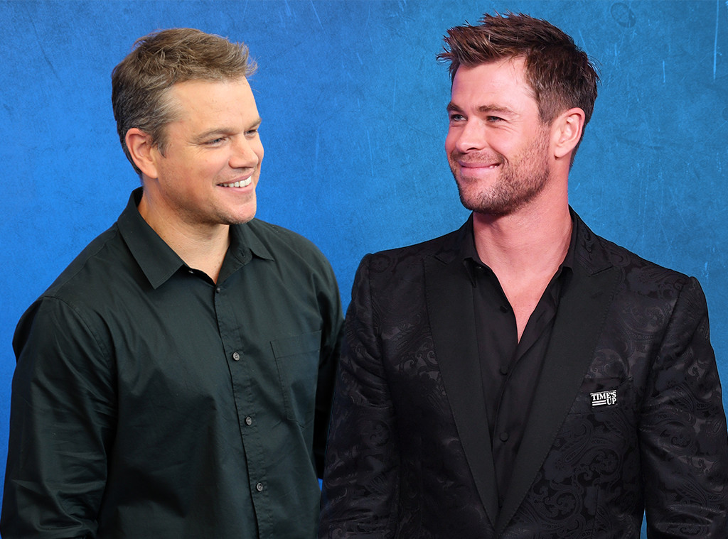 Matt Damon, Chris Hemsworth, Bromance