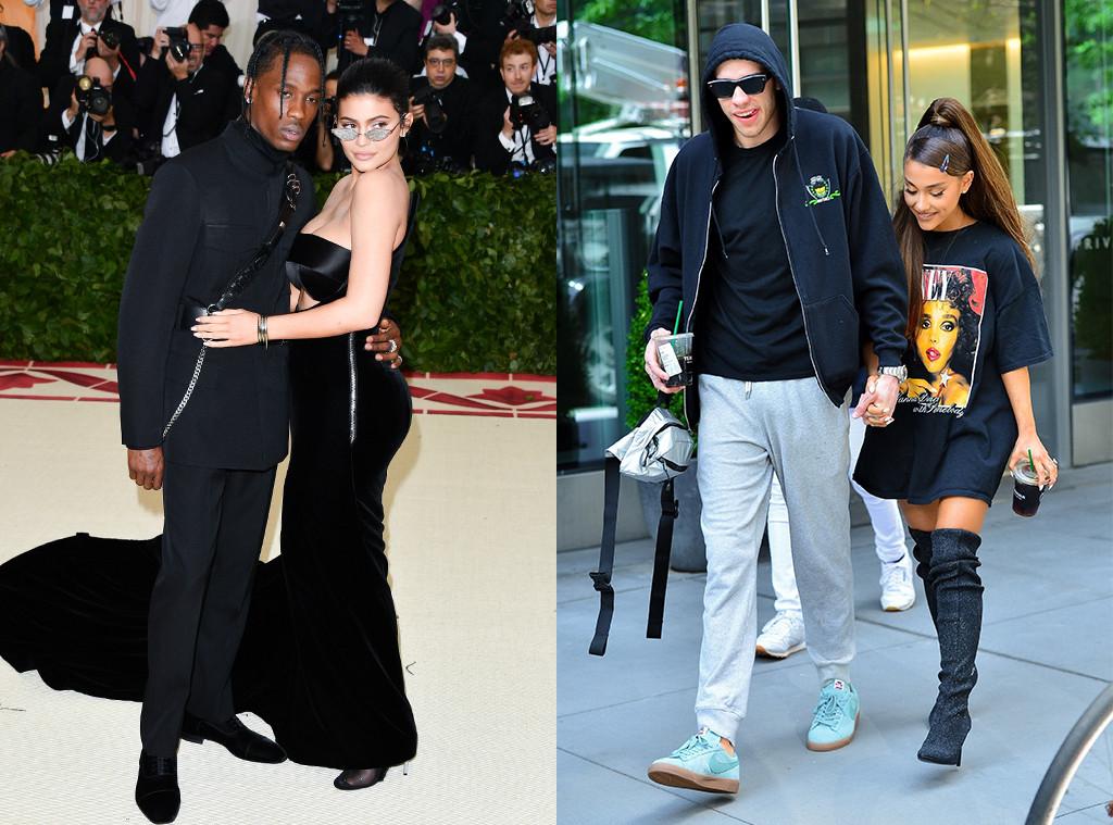 Kylie Jenner, Travis Scott, Ariana Grande, Pete Davidson