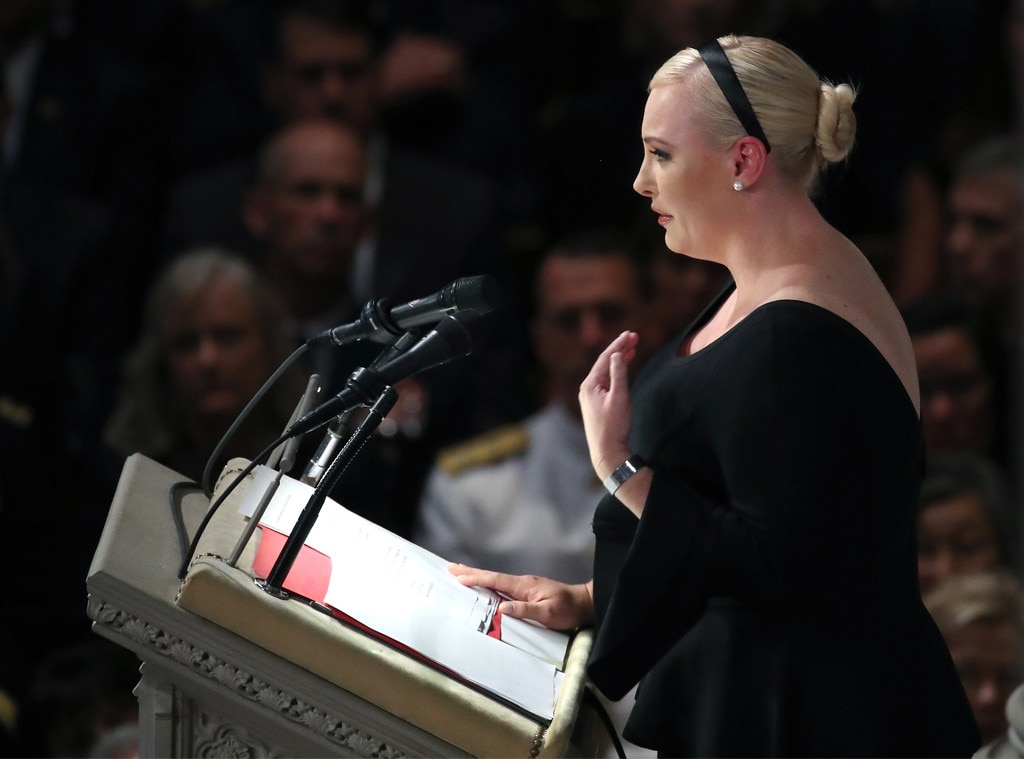 Obama, Bush, Meghan McCain rebuke absent Trump in tribute to fallen senator