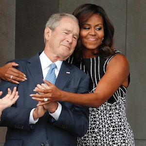 Michelle Obama, George W. Bush