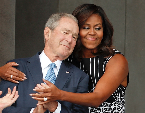 George W. Bush Passing Michelle Obama Candy at John McCain's Funeral Is the Internet's New Favorite Moment