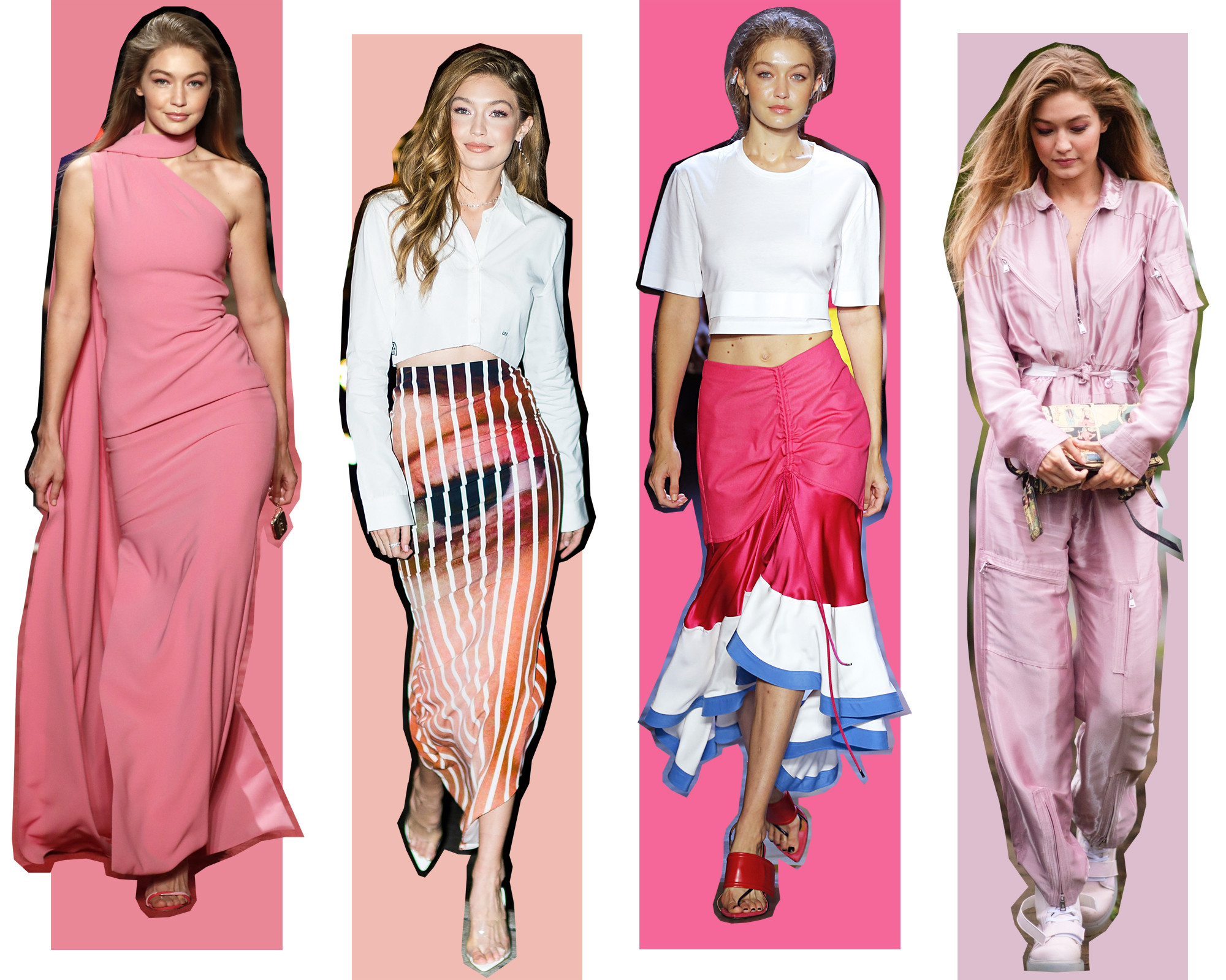 Every Outfit Gigi Hadid Has Worn During NYFW Spring 28 - E! Online