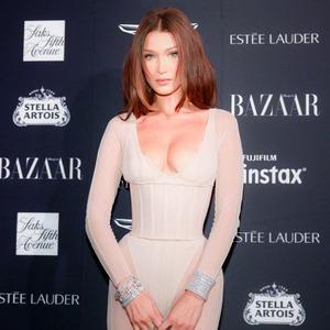ESC: Bella Hadid, Harper's Bazaar ICONS party