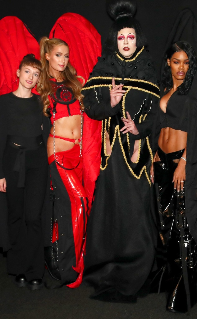 Namilia - Paris Hilton  and  Teyana Taylor  were a couple of the dark angels the designers chose to display their crazy collection.