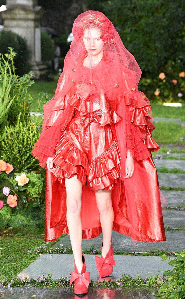Rodarte -  This red bridal style looks at lot like  Katy Perry 's Met Gala 2017 outfit, right?