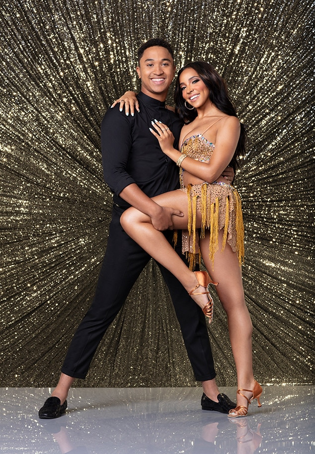 """ELIMINATED: Tinashe -  Singer  Tinashe  went home during week four. For her final dance, she and partner  Brandon Armstrong  were joined by  Amy Purdy  and danced to  Pat Benatar 's """"Hit Me with Your Best Shot."""""""