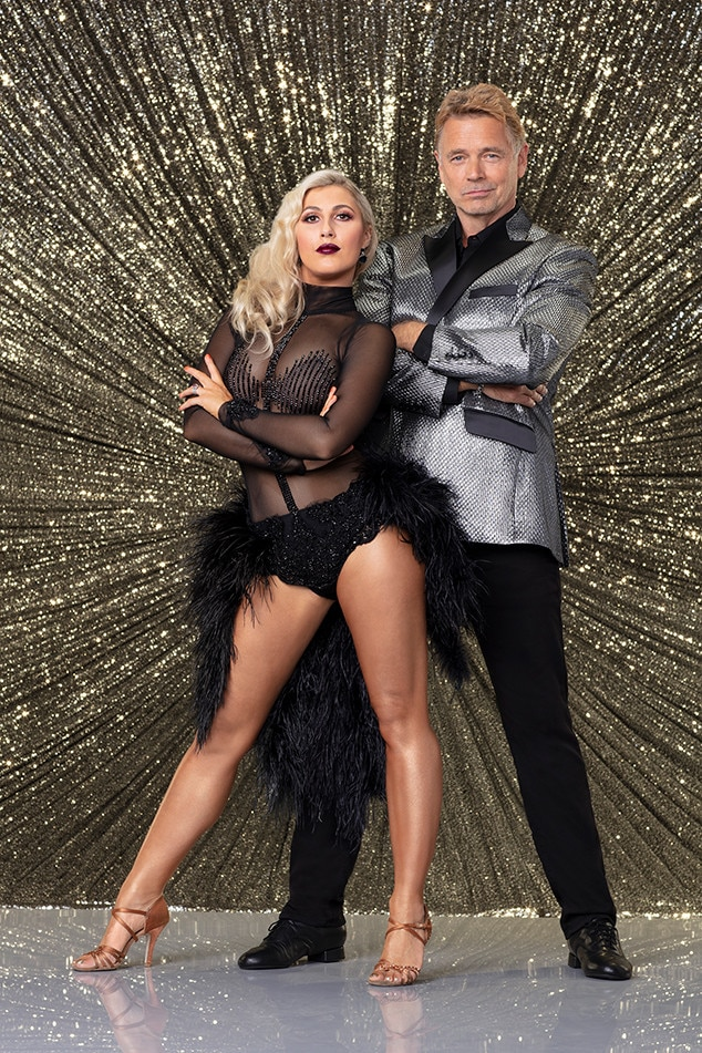 John Schneider -  The  Smallville  and  Dukes of Hazzard  veteran  John Schneider  and partner  Emma Slater  haven't had the highest-scoring dances, but they seem to be having fun. Their dance to the  Beetlejuice  theme song scored just 19 during Halloween week.