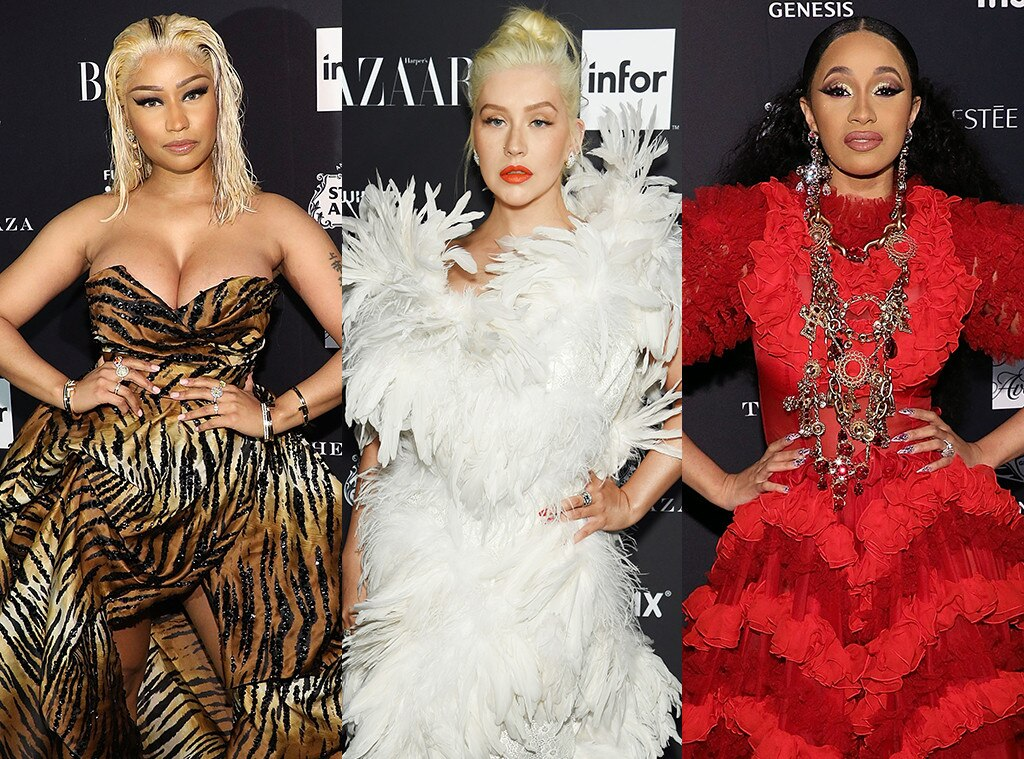 Christina Aguilera Reacts to Cardi B & Nicki Minaj's Fight