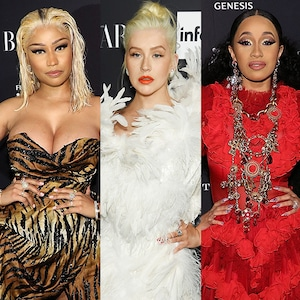 Nicki Minaj, Christina Aguilera, Cardi B, Harper's BAZAAR ICONS Party