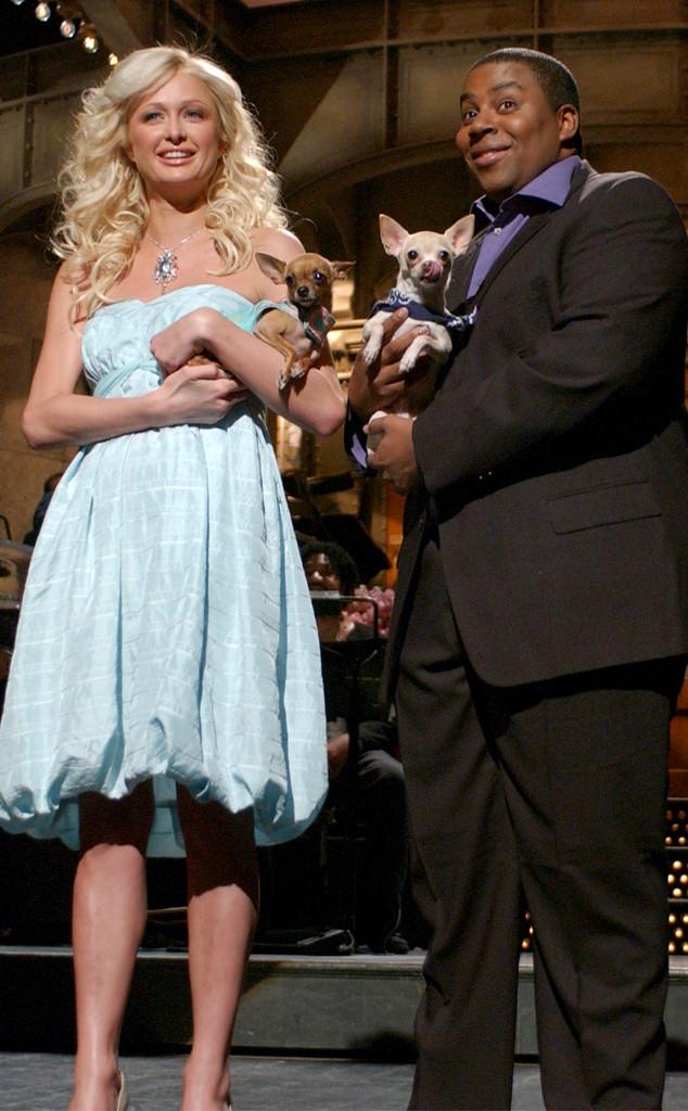 Paris Hilton, Kenan Tompson, SNL