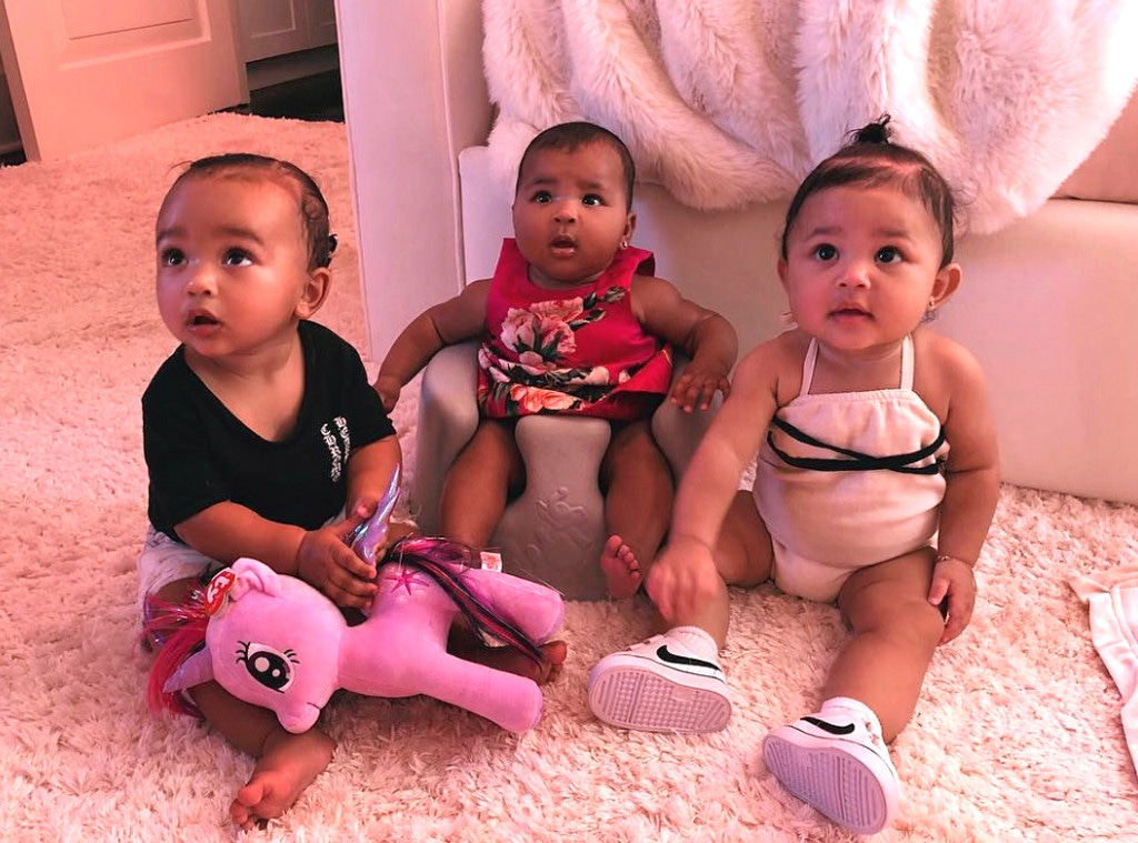 Chicago West, True Thompson, Stormi Webster, Kim Kardashian, Instagram