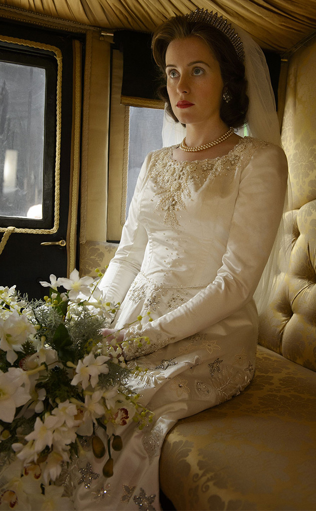 The Crown, Claire Foy, Wedding Dress