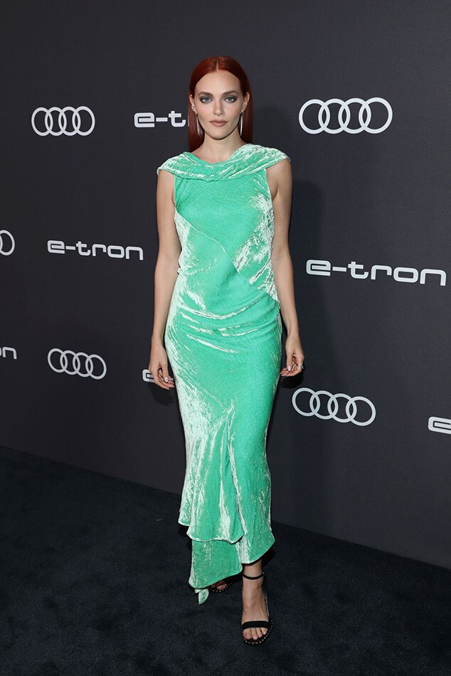 Madeline Brewer -  The  Handmaid's Tale  star dazzles in green.