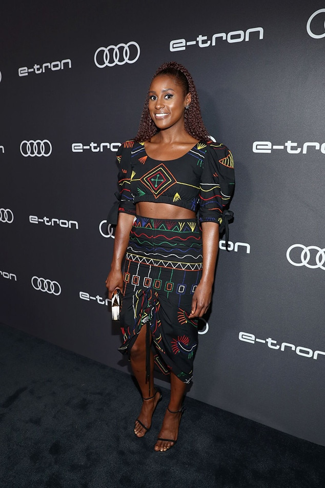 Issa Rae -  The  Insecure  star is all smiles.