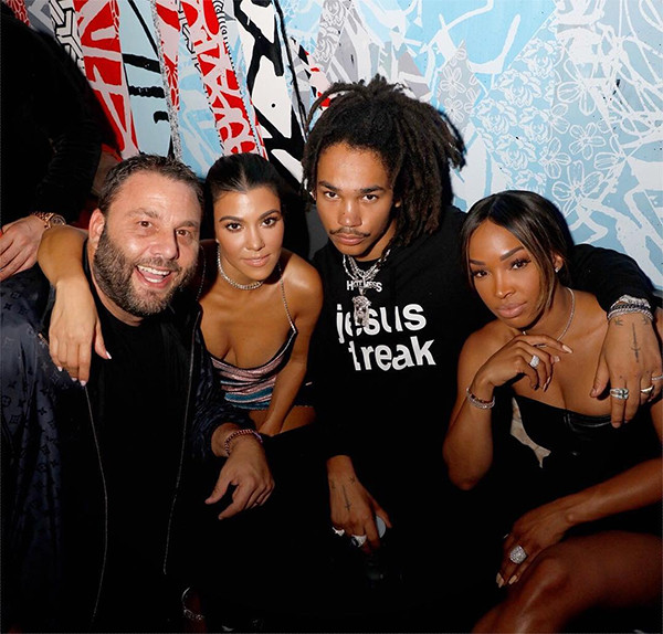 Kourtney Kardashian, Luka Sabbat, David Grutman, Malika Haqq, TAO Chicago