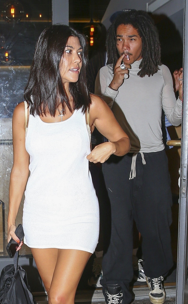Kourtney Kardashian And Luka Sabbat Party And Dine