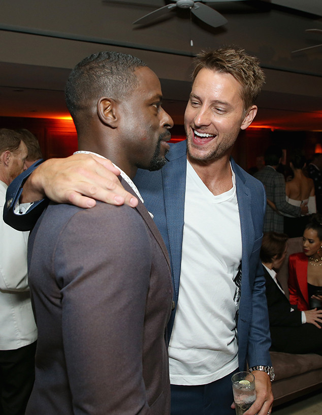 Justin Hartley, Sterling K. Brown, 2018 Pre-Emmys Party