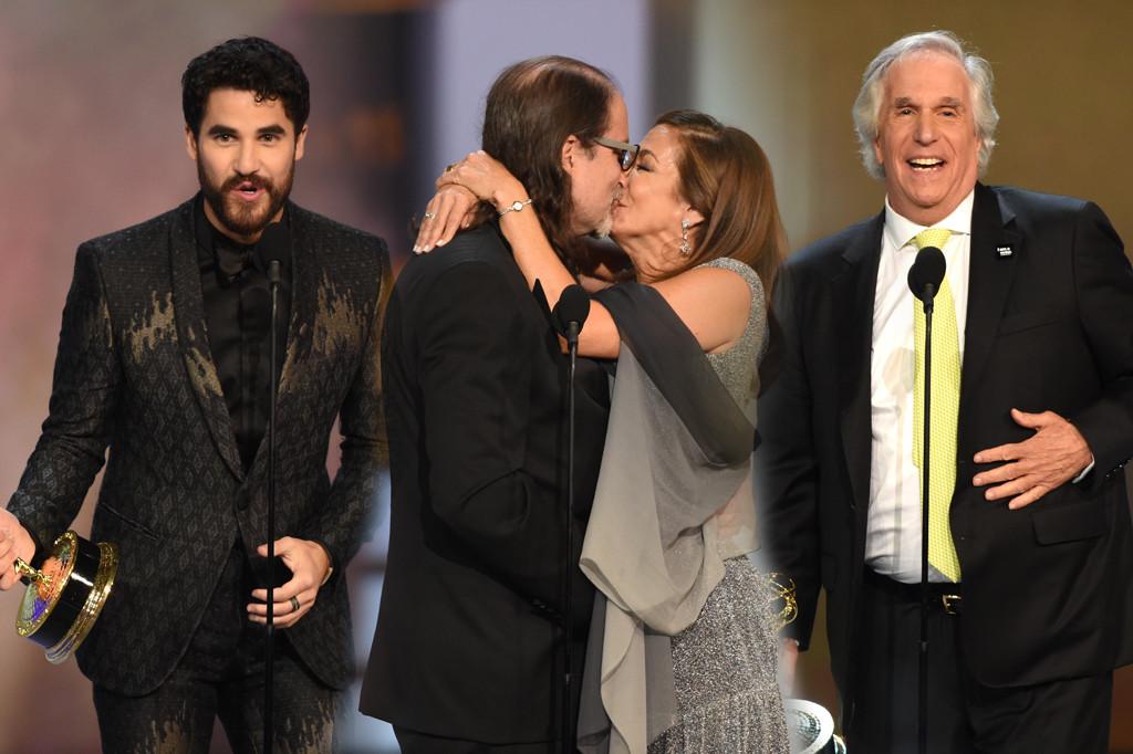 Darren Criss, Glenn Weiss, Henry Winkler, 2018 Emmys, 2018 Emmy Awards, Winners