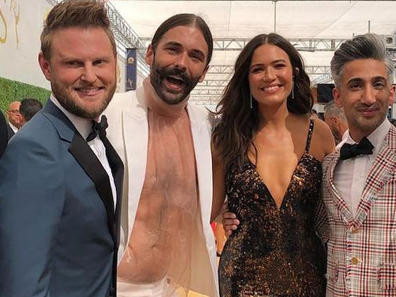 Jonathan Van Ness Dons See-Through Top at 2018 Emmys Alongside <i>Queer Eye</i> Co-Stars