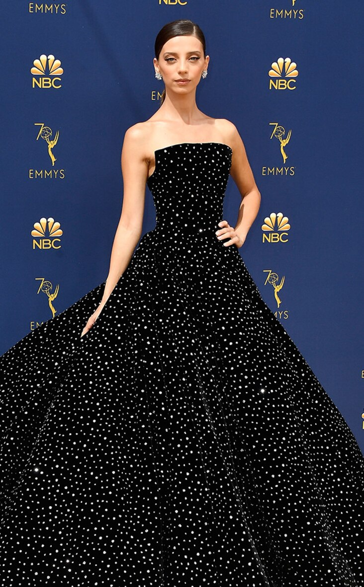 2018 Emmys Red Carpet Fashion Angela Sarafyan, 2018 Emmys, 2018 Emmy Awards, Red Carpet Fashions