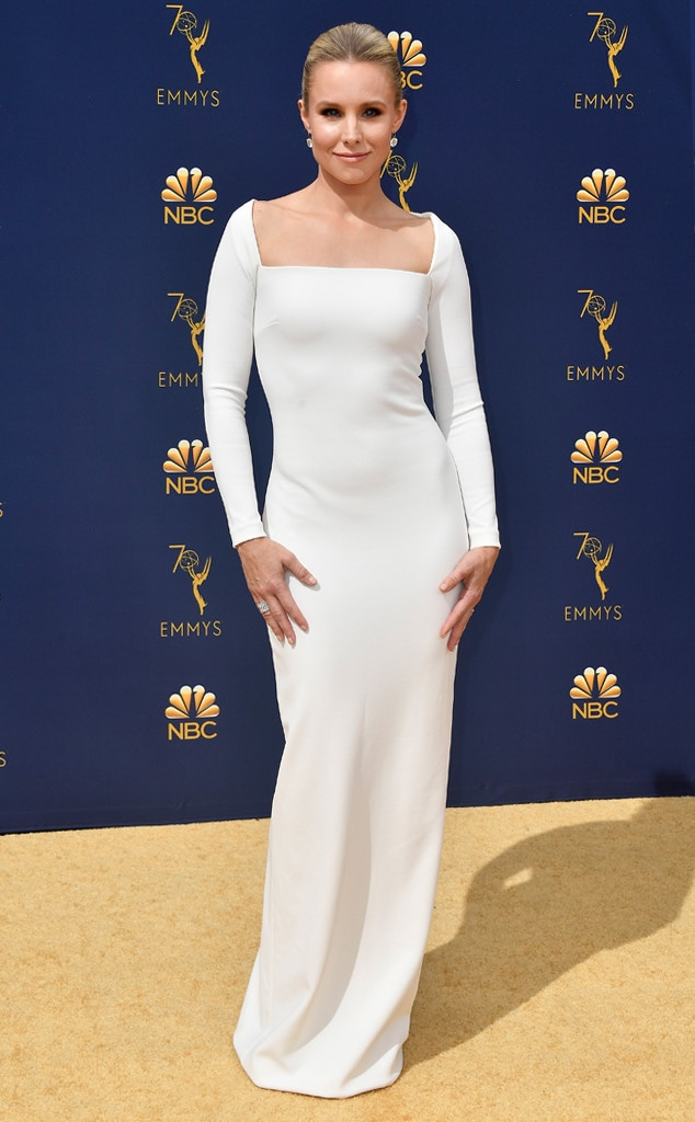 Kristen Bell, 2018 Emmys, 2018 Emmy Awards, Red Carpet Fashions