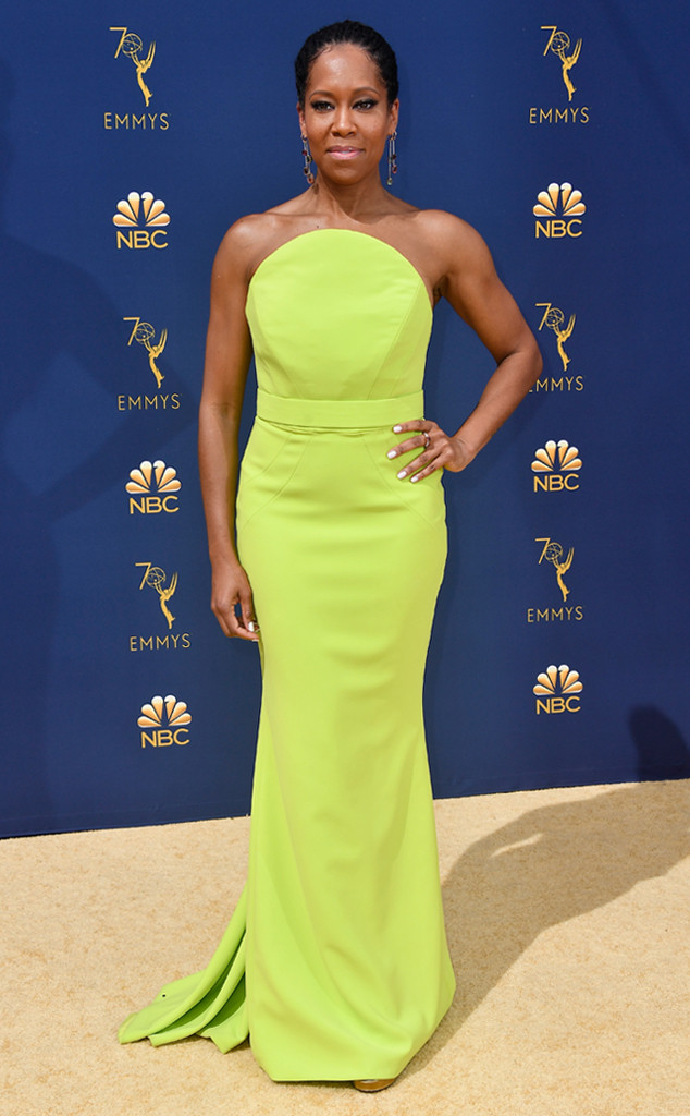 Regina King, 2018 Emmys, 2018 Emmy Awards, Red Carpet Fashions