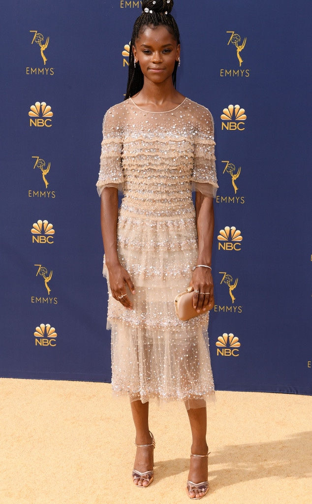 Letitia Wright, 2018 Emmys, 2018 Emmy Awards, Red Carpet Fashions