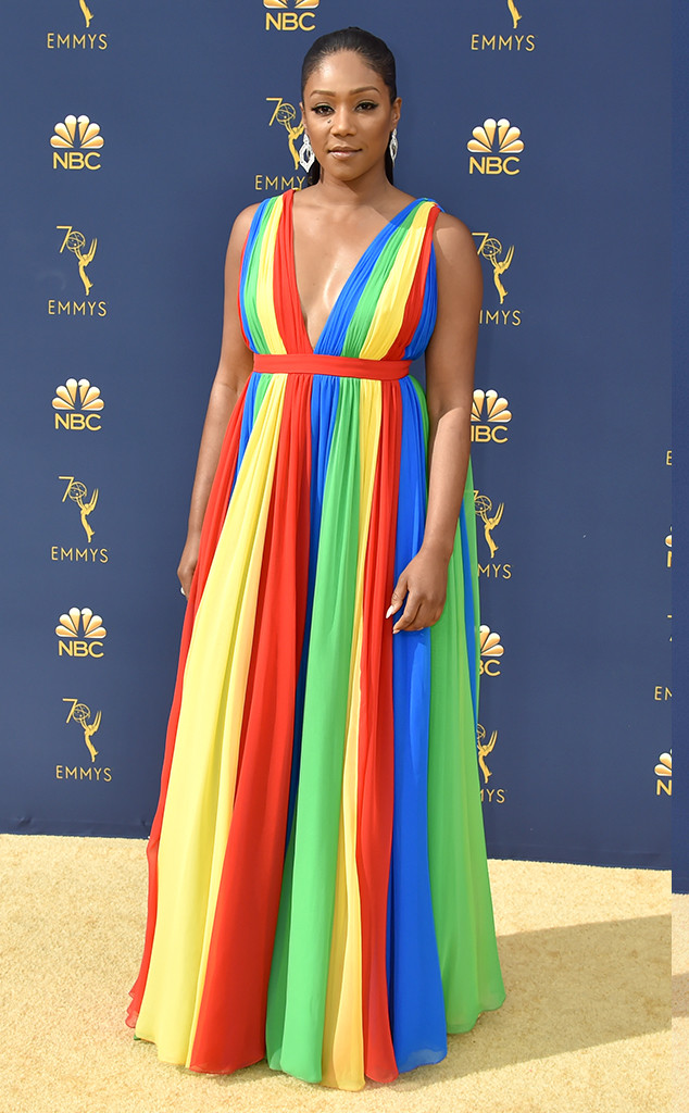 Tiffany Haddish, 2018 Emmys, 2018 Emmy Awards, Red Carpet Fashions