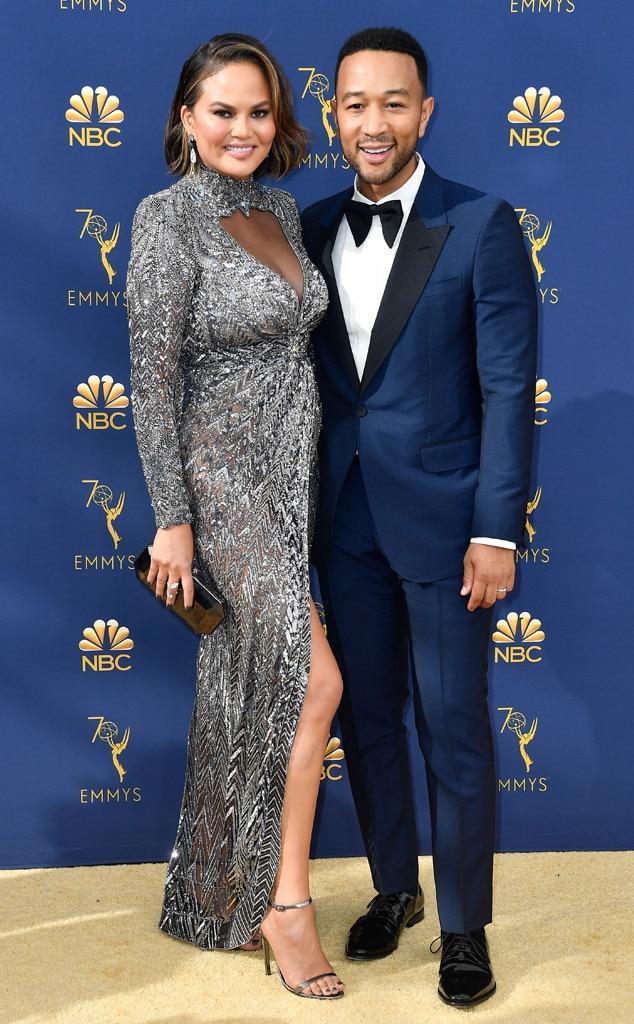 Chrissy Teigen, John Legend, 2018 Emmys, 2018 Emmy Awards, Couples