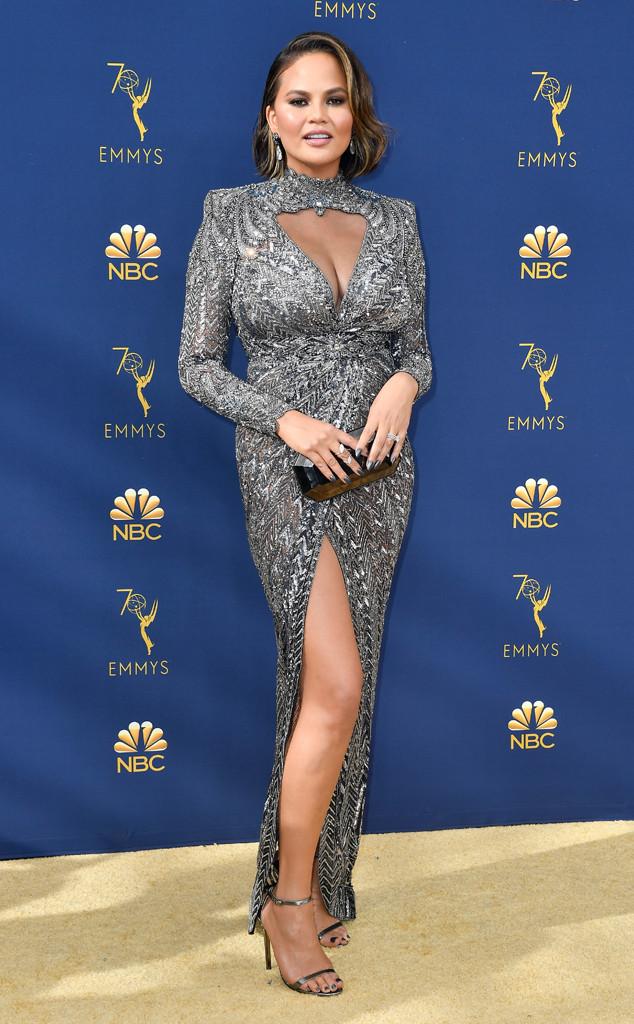 Chrissy Teigen, 2018 Emmys, 2018 Emmy Awards, Red Carpet Fashions