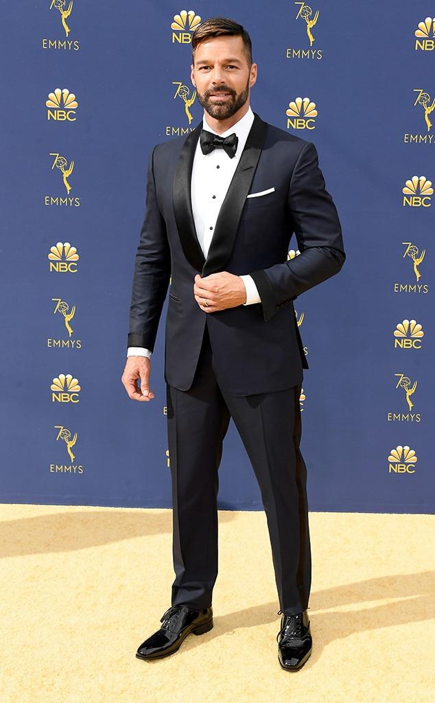 Ricky Martin, 2018 Emmys, 2018 Emmy Awards, Red Carpet Fashions