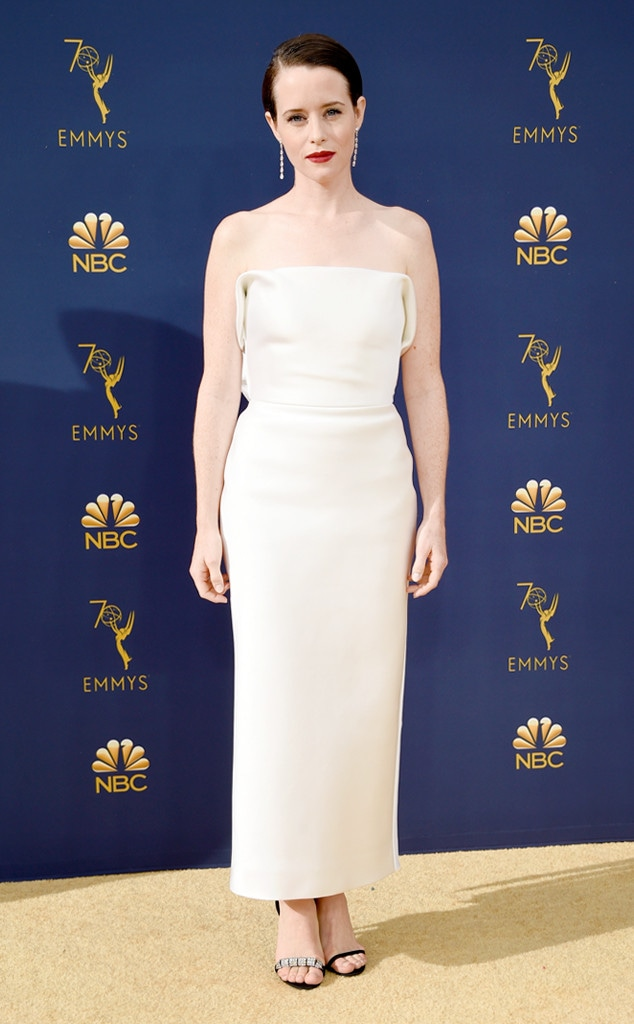 ESC: 2018 Emmy Awards, Wedding Dresses, Claire Foy